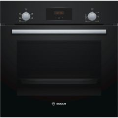 Bosch HHF113BA0B Built In Electric Single Oven With 3D Hot Air - Black